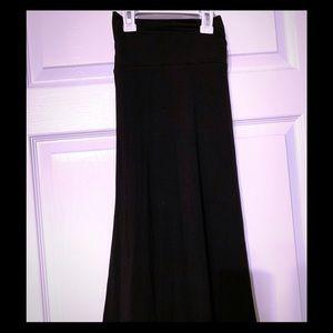 Black Maxi Skirt, size medium